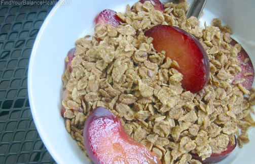 Uncle Sam's cereal with plums