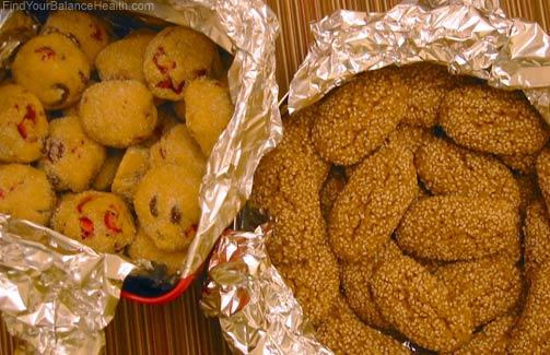 Christmas cookies with whole ingredients