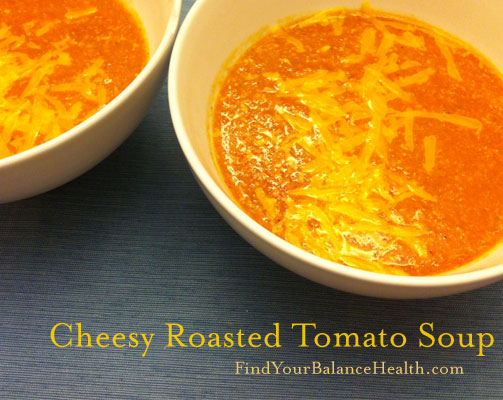 Get cozy: Cheesy Roasted Tomato Soup Recipe | Find Your ...
