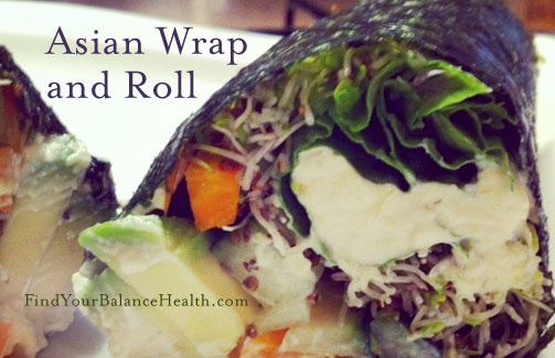 asian flavors detox wrap