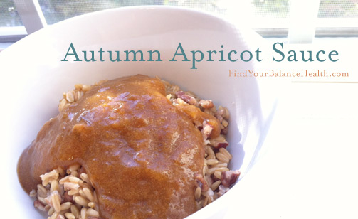 No sugar added apricot sauce