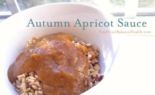 No sugar added apricot sauce