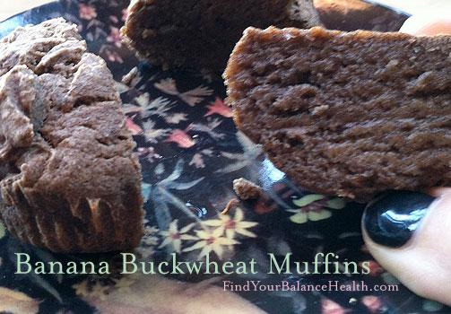 Gluten-free banana detox muffins