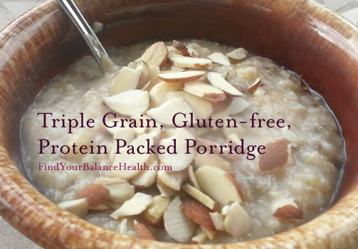 Protein packed detox porridge