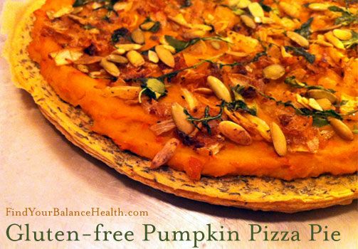 Pumpkin gluten-free detox pizza