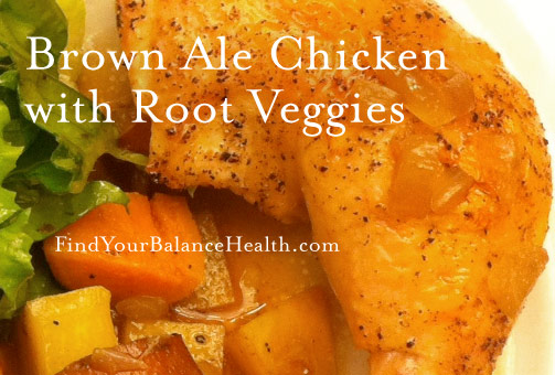Brown ale chicken