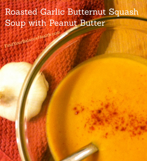 Roasted Garlic butternut squash soup