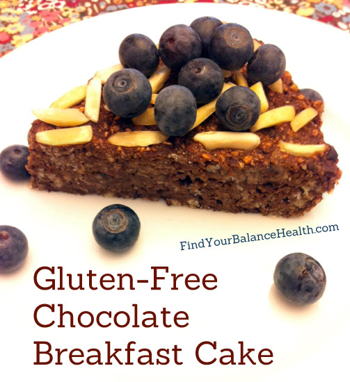 chocolate breakfast cake gluten-free