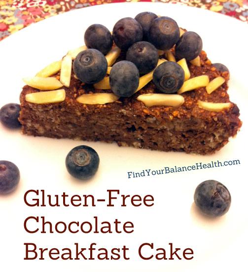 chocolate breakfast cake gluten-free