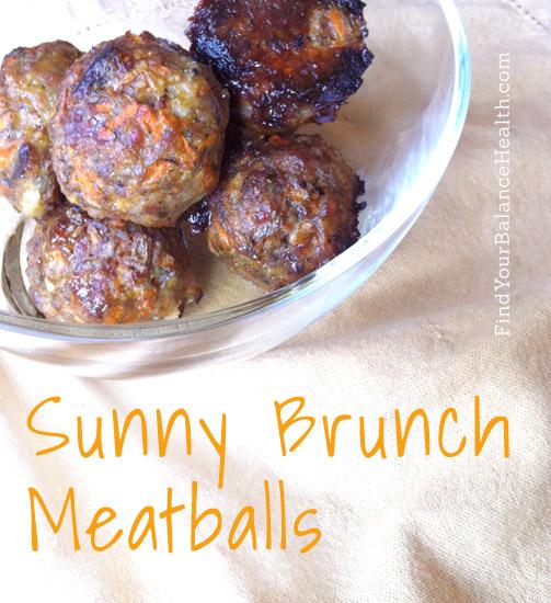 Sunny brunch meatballs