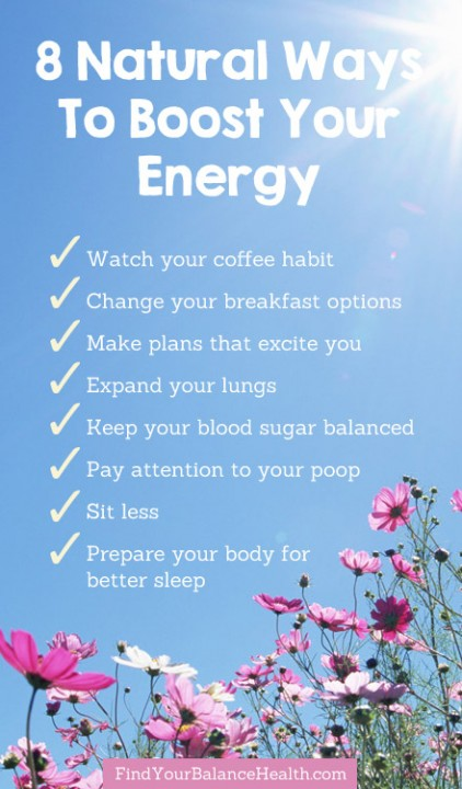 8 Natural Ways To Boost Energy All Day Long Find Your Balance with Michelle Pfennighaus