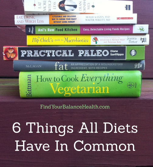 What all diets have in common