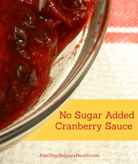 No sugar added cranberry sauce