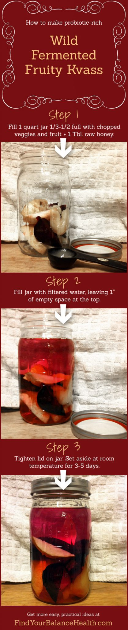 How to make probiotic-rich fruit kvass