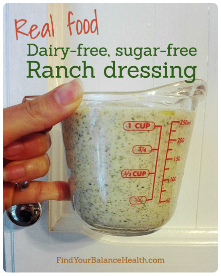 Dairy-free, vegan, sugar-free ranch dressing