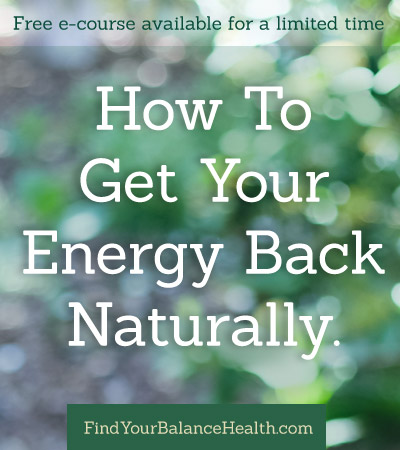 How to get your energy back naturally
