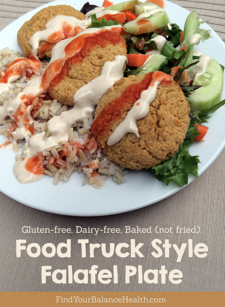 Food Truck Style Baked Falafel Plate Gluten Free Dairy Free