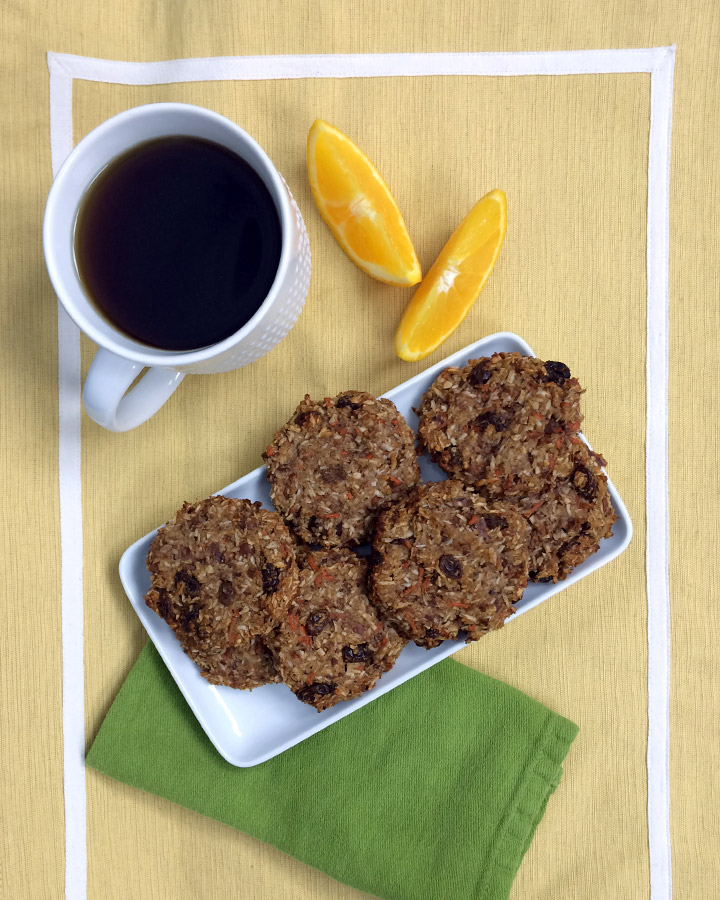 Healthy breakfast on the go - Carrot Cake Breakfast Cookies