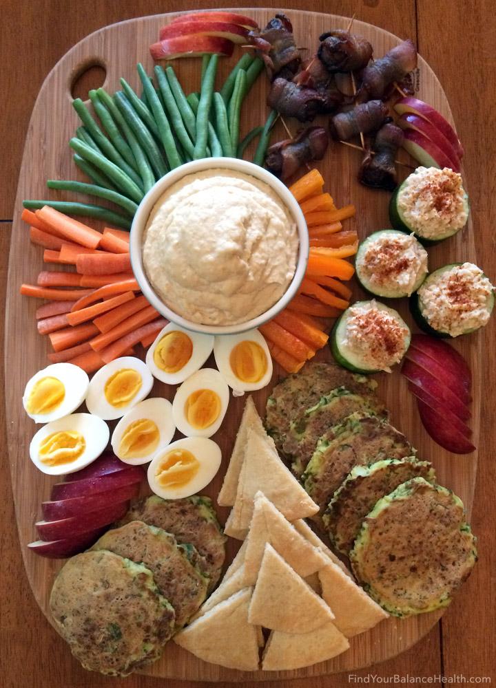 Healthy family charcuterie dinner 1