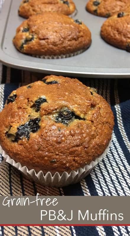 PB&J Grain-free Muffins