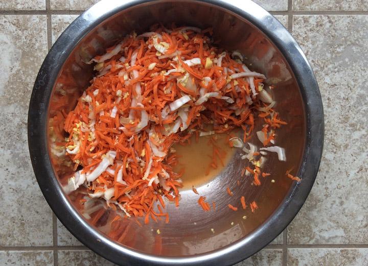 Ginger carrots, step 6