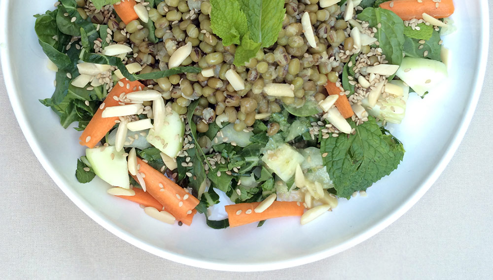 Miso Mint Salad