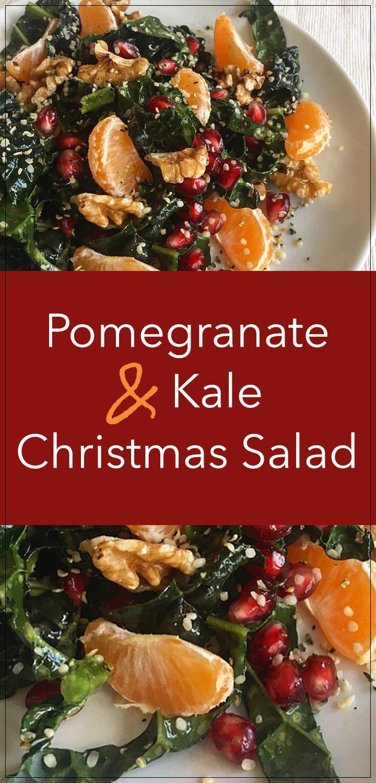 Pomegranate & Kale Christmas Salad