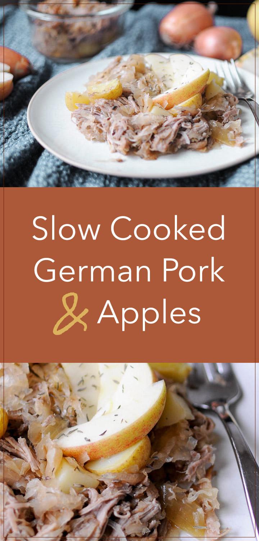 Slow Cooked German Pork & Apples