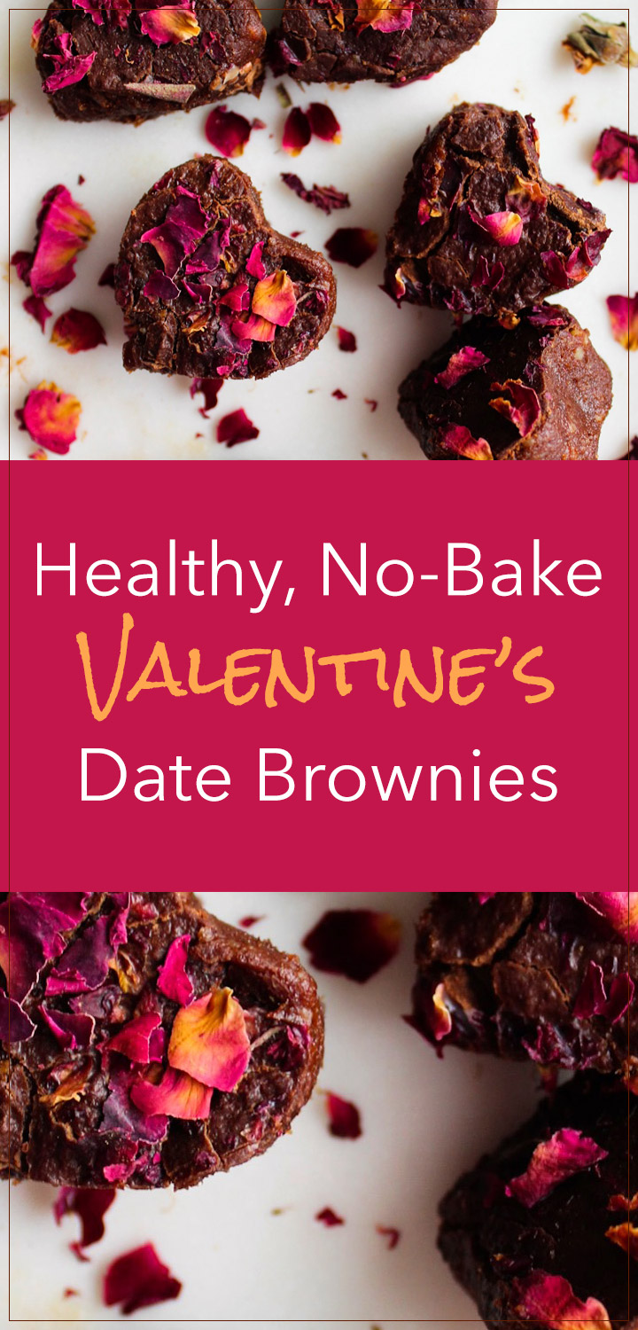 Healthy, No-Bake Valentine's Brownies