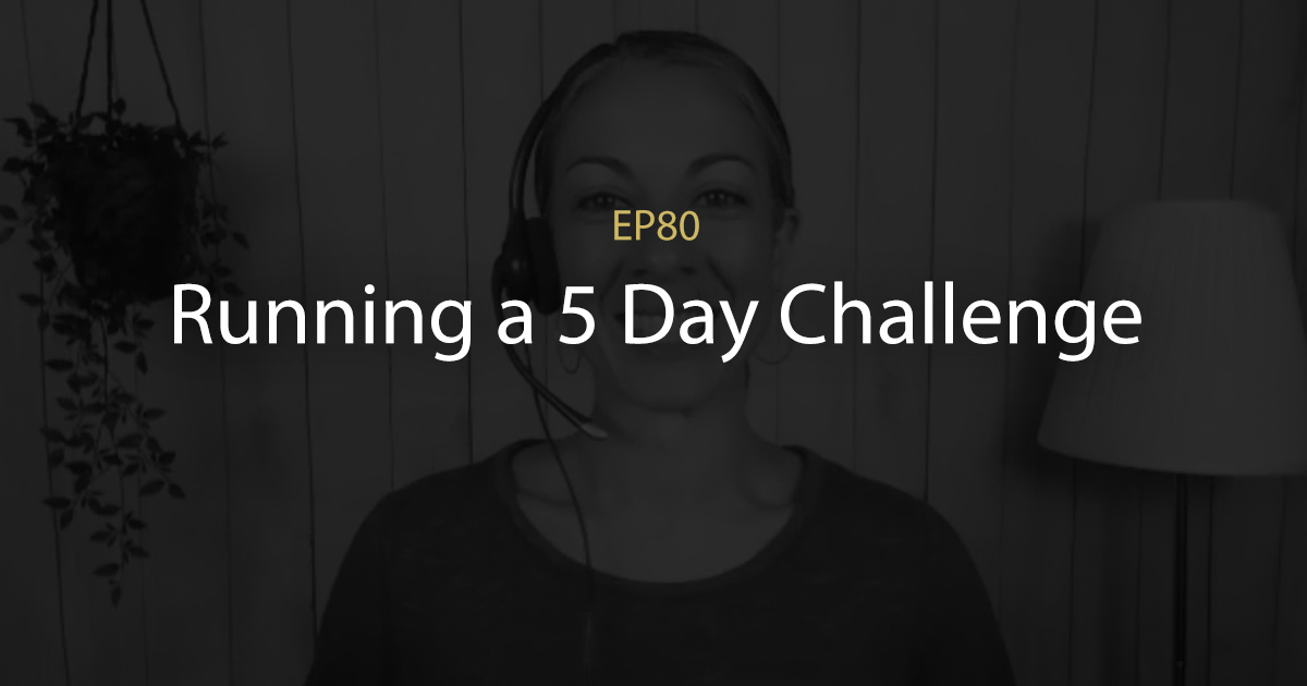ep 80 running a 5 day challenge